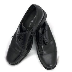 JOHNSTON & MURPHY BLACK SHOES 9.5